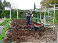 Estercolar el huerto